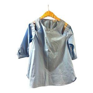 Like new Calvin Klein blue cold shoulder top